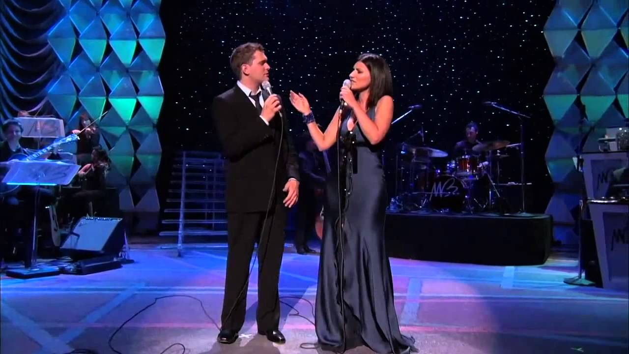 "DUETOS FANTÁSTICOS: MICHAEL BUBLE E LAURA PAUSINI INTERPRETANDO YOU'LL NEVER FIND"" EM SHOW AO VIVO"